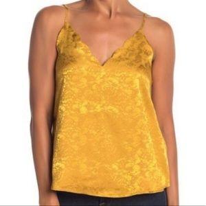 Socialite Tank Top Golden Yellow Scallop Top